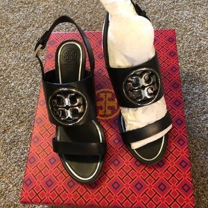 NWT Tory Burch wedge sandals. Size 6.5